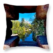 Peakin In On Everest Throw Pillow