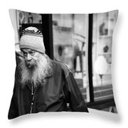 Peaking  Lounging  Throw Pillow