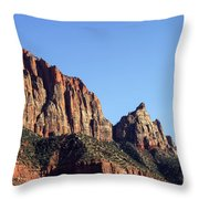 Peaks In Zion Throw Pillow