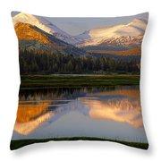 6m6530-a-peaks Reflected Touolumne Meadows  Throw Pillow