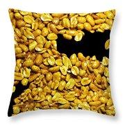 Peanut Brittle Throw Pillow