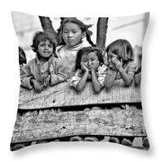 Peanut Gallery Monochrome Throw Pillow