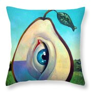 Fishing Pear  Throw Pillow