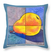 Pear I Throw Pillow