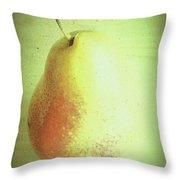 Summer Pear Throw Pillow
