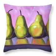 Pear Line Throw Pillow