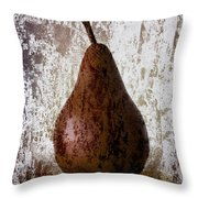 Pear On The Rocks Throw Pillow
