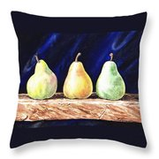 Pear Pear And A Pear Throw Pillow