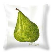 Pear Study#3 Throw Pillow