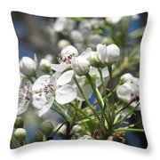 Pear Tree In Bloom Throw Pillow
