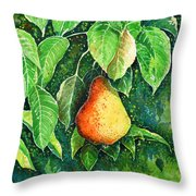 Pear Throw Pillow by Zaira Dzhaubaeva