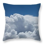 Pearl And Cobalt Throw Pillow