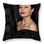 Pearl Earring Throw Pillow