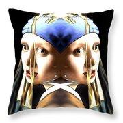 Pearl Earring Pearl Throw Pillow
