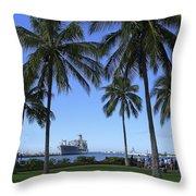 Pearl Harbor Hawaii Throw Pillow