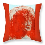 Pearl Of A Girl Throw Pillow