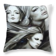 Pearl Passions Throw Pillow