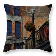 Pearl Street Grill Throw Pillow