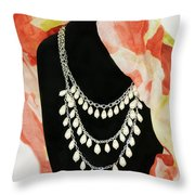 Pearl Tiers Throw Pillow