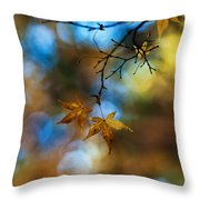 Pearlescent Acers Throw Pillow