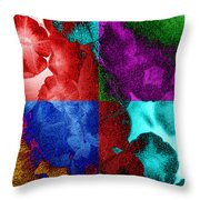 Pearlescent Posies Throw Pillow