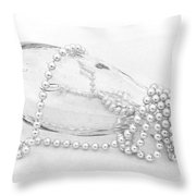 Pearls And Old Glass Abstract Throw Pillow
