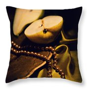 Pearls And Pears Throw Pillow
