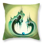 Pearl's Castle Throw Pillow