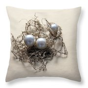 Pearls Throw Pillow by Lali Kacharava