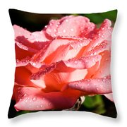 Pearly Petals Throw Pillow