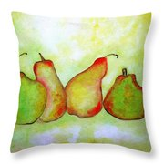 Pears 2 Throw Pillow