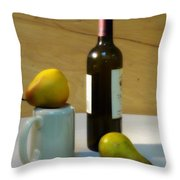 Pears And Wine Throw Pillow