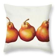 Pears Throw Pillow by Annabel Barrett