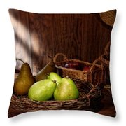 Pears At The Old Farm Market Throw Pillow