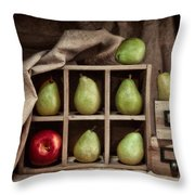 Pears On Display Still Life Throw Pillow