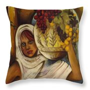 Peasant Girl Throw Pillow
