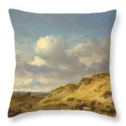 Peasants Driving Cattle And Sheep Throw Pillow