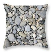 Pebble Background Throw Pillow