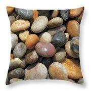 pebble beach Chesil UK  Throw Pillow