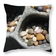 Pebble Beach Mankala Throw Pillow