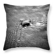 Pebble In The Water Monochrome Throw Pillow
