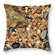 Pebbles And Sand Throw Pillow