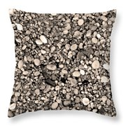 Pebbles Bw Throw Pillow