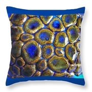 Pebbles Marbled Blue Throw Pillow