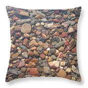 Pebbles Under Water Throw Pillow