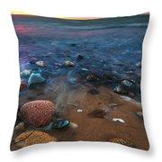 Pebbly Beach Throw Pillow