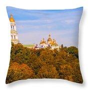 Pechersk Lavra Tower Bell Throw Pillow