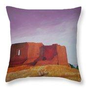 Pecos Mission Landscape Throw Pillow