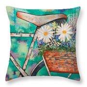 Pedal Petal Throw Pillow