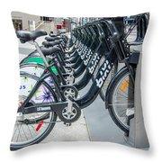 Pedal Power Throw Pillow